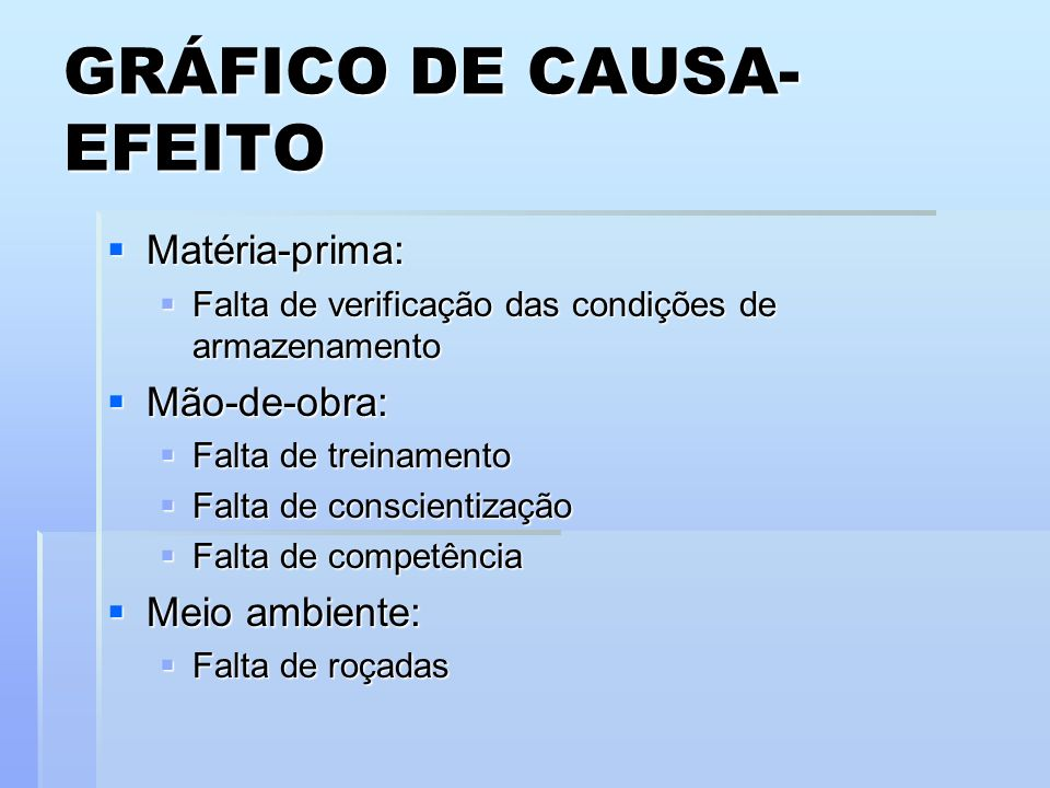 GRÁFICO DE CAUSA-EFEITO