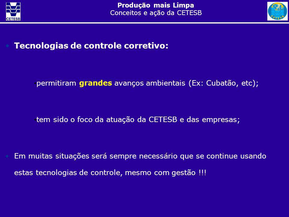 Tecnologias de controle corretivo: