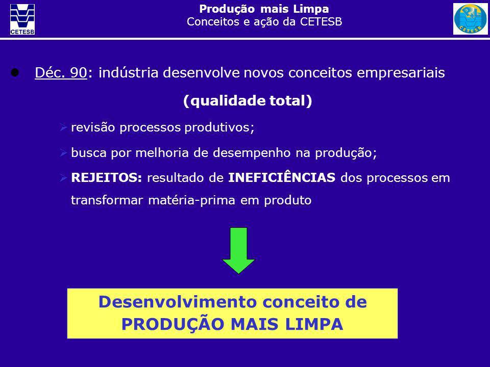 Desenvolvimento conceito de PRODUÇÃO MAIS LIMPA