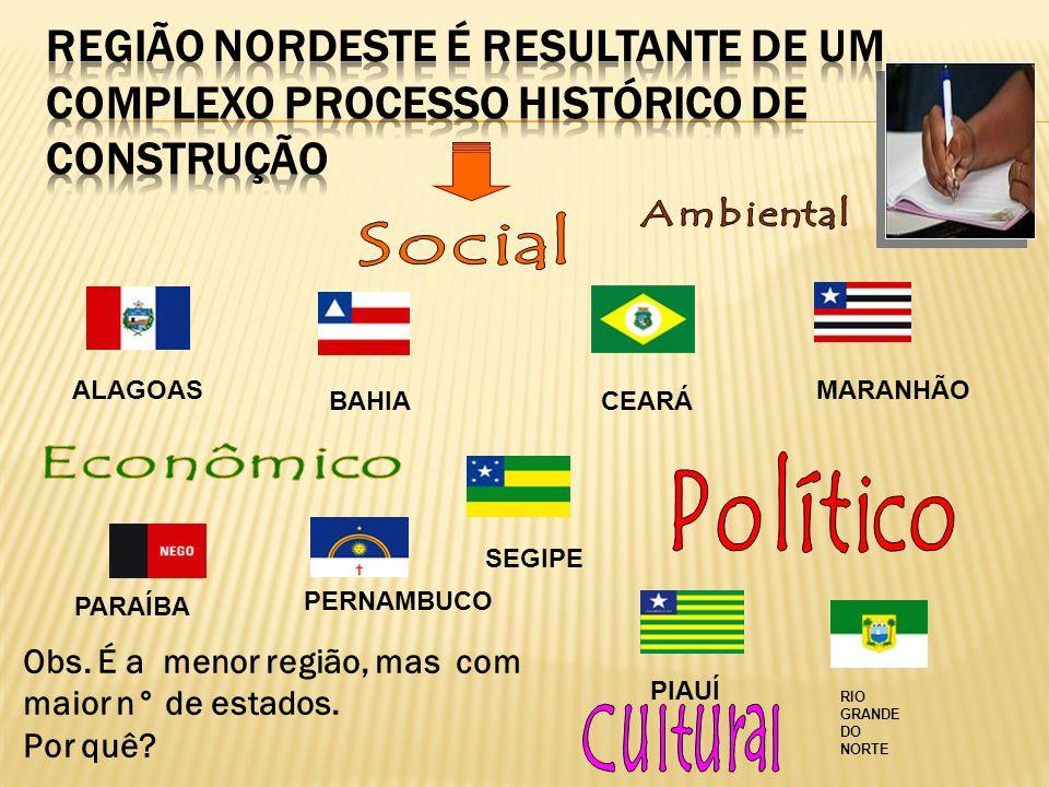 Região Nordeste é resultante de um complexo processo histórico de construção