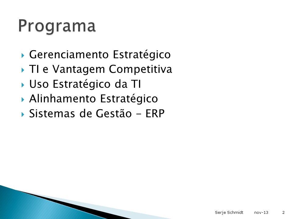 Programa Gerenciamento Estratégico TI e Vantagem Competitiva
