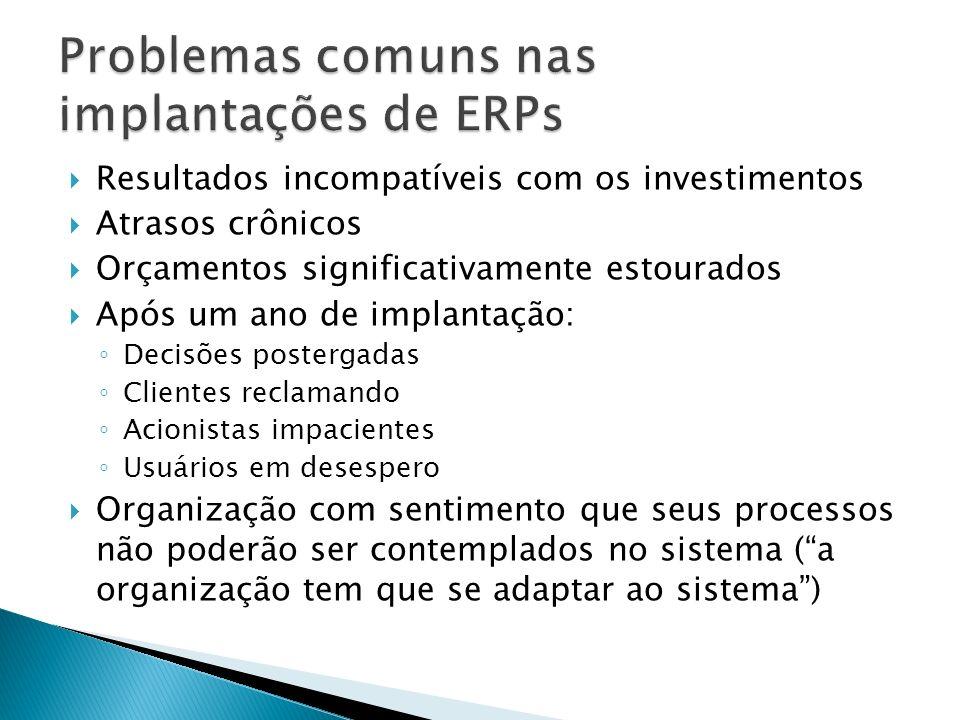 Problemas comuns nas implantações de ERPs