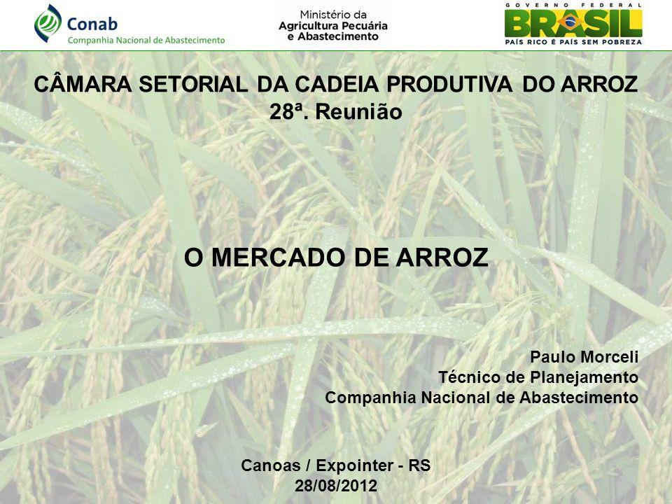 CÂMARA SETORIAL DA CADEIA PRODUTIVA DO ARROZ