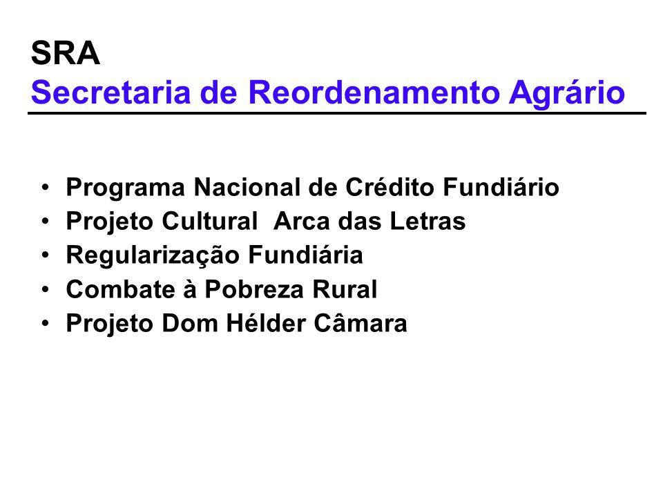 SRA Secretaria de Reordenamento Agrário