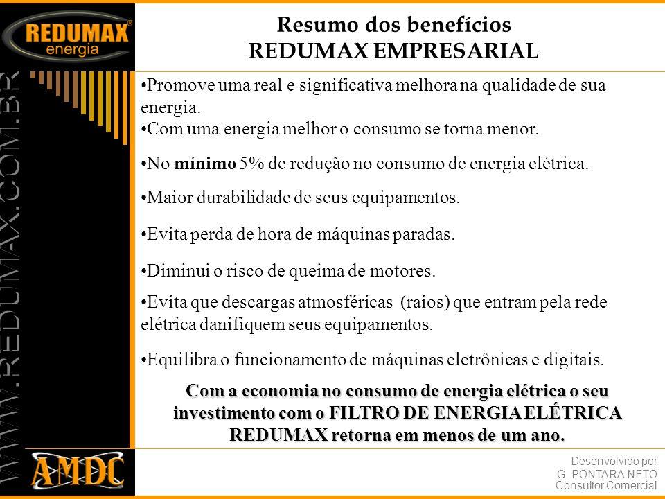 Resumo dos benefícios REDUMAX EMPRESARIAL
