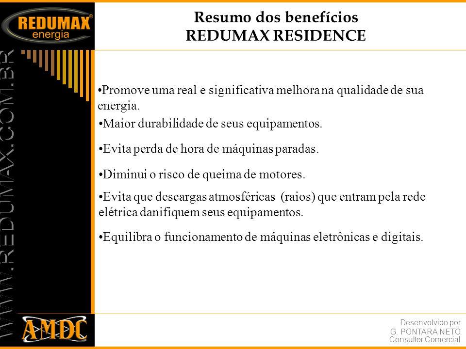 Resumo dos benefícios REDUMAX RESIDENCE