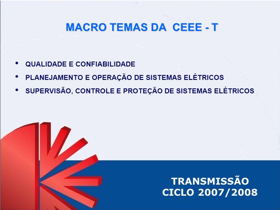 MACRO TEMAS DA CEEE - T TRANSMISSÃO CICLO 2007/2008