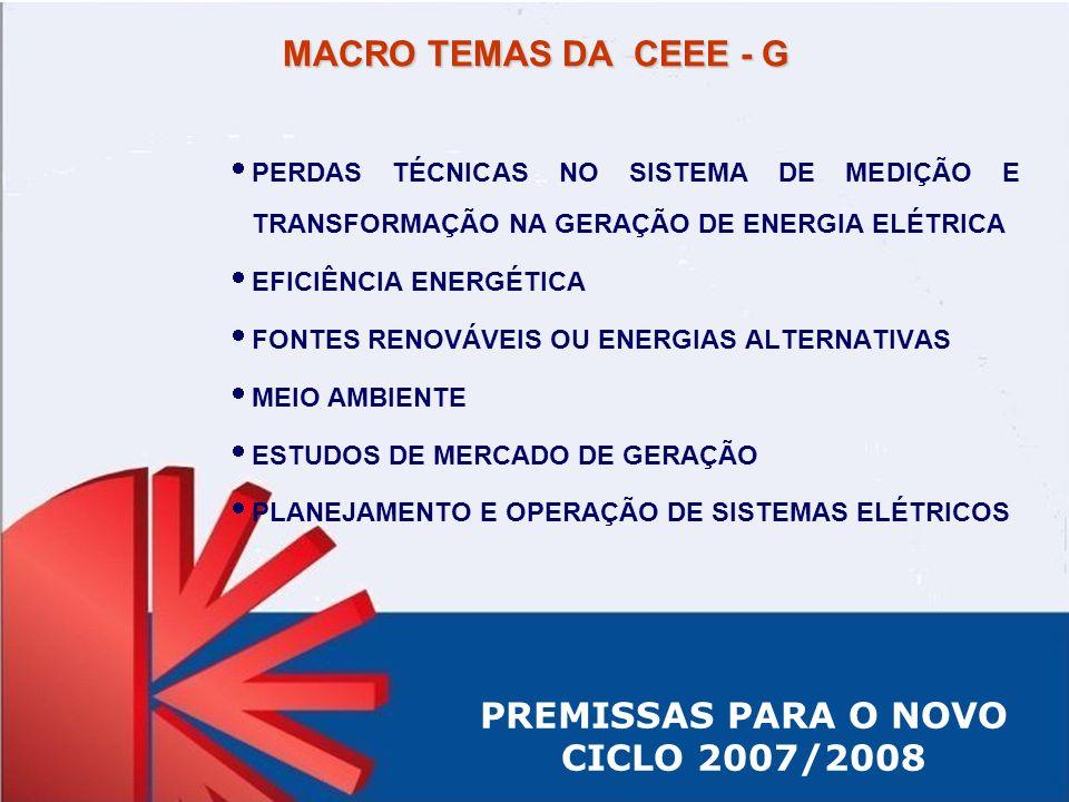 PREMISSAS PARA O NOVO CICLO 2007/2008