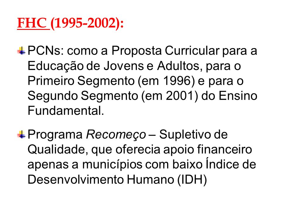 FHC (1995-2002):