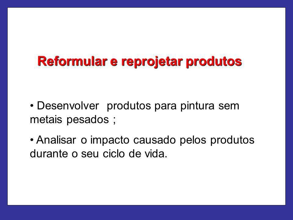 Reformular e reprojetar produtos