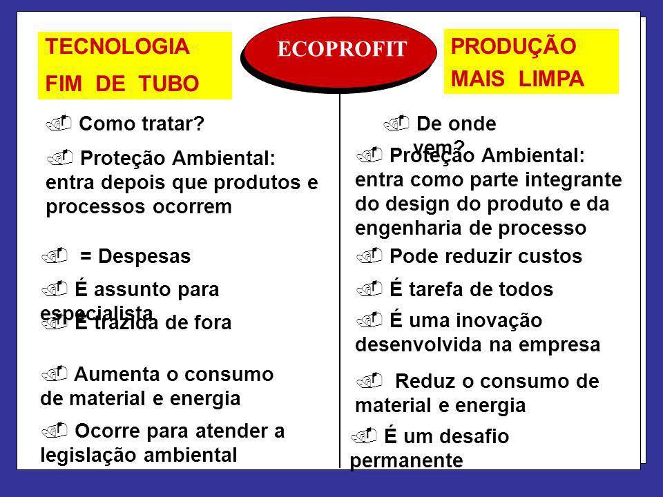PRODUÇÃO TECNOLOGIA ECOPROFIT FIM DE TUBO MAIS LIMPA Como tratar