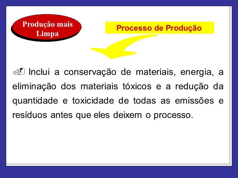 Produção mais Limpa Processo de Produção.