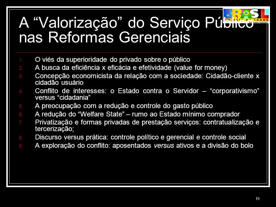 A Valorização do Serviço Público nas Reformas Gerenciais