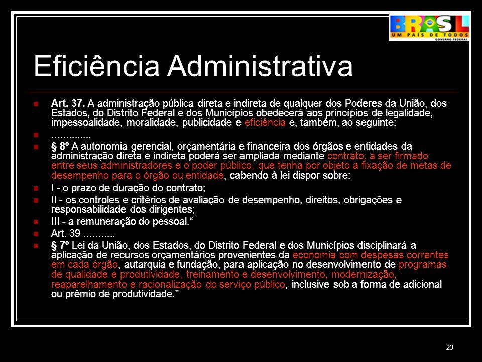 Eficiência Administrativa