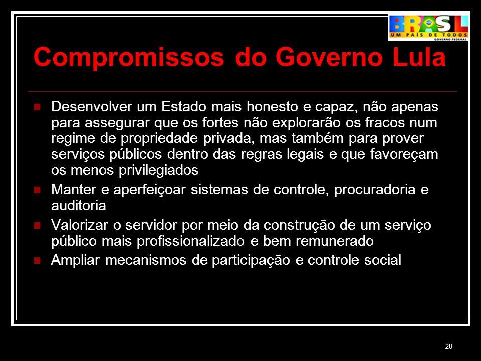 Compromissos do Governo Lula
