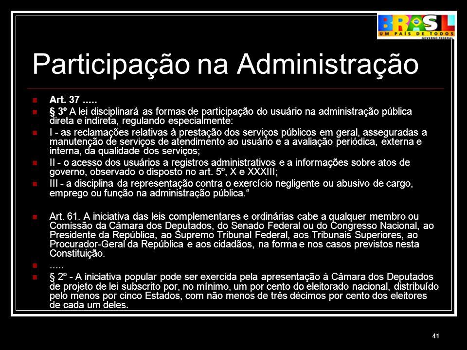 Participação na Administração