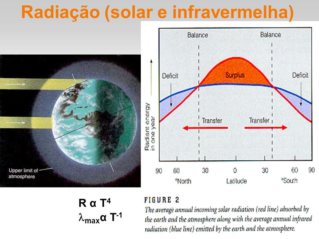 Radiação (solar e infravermelha)