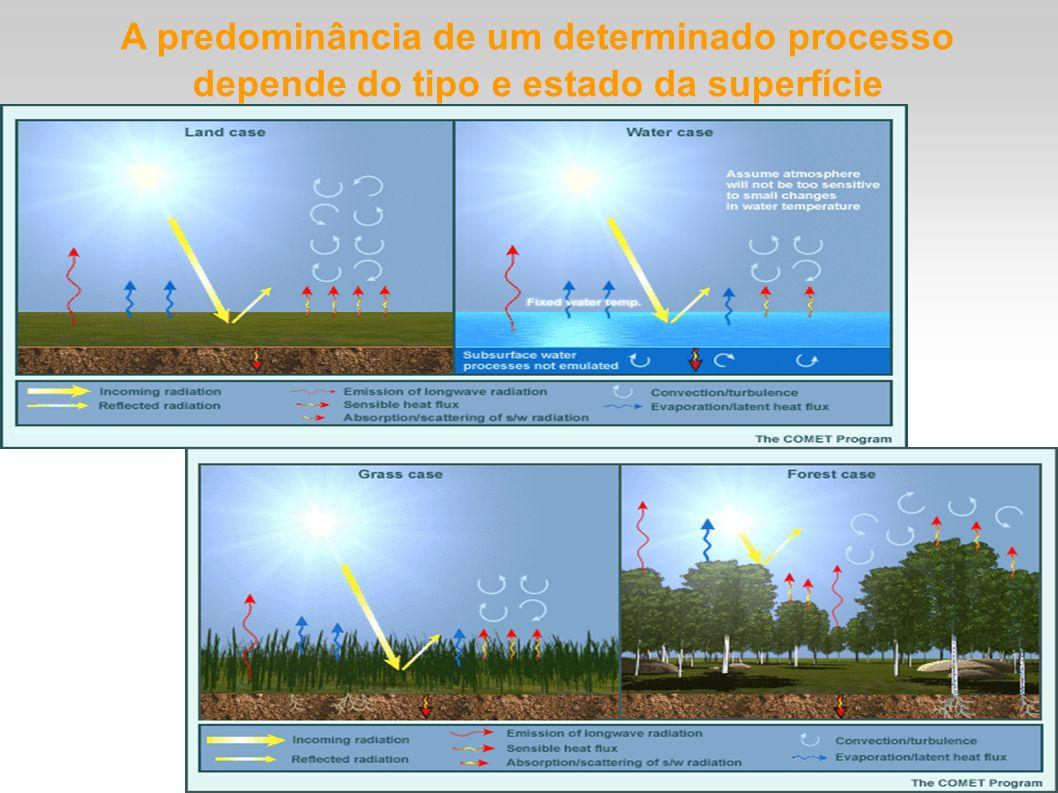 A predominância de um determinado processo