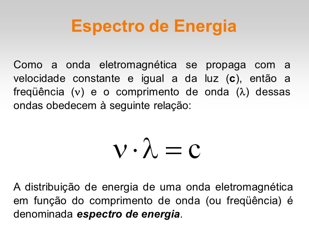 Espectro de Energia