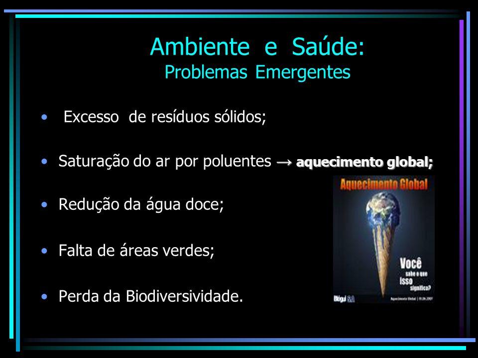 Ambiente e Saúde: Problemas Emergentes