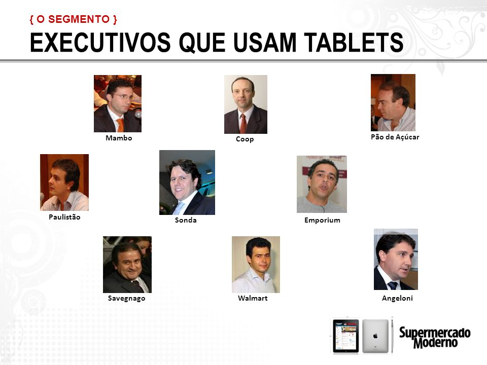 EXECUTIVOS QUE USAM TABLETS