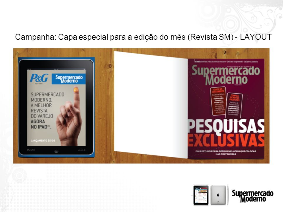 Campanha: Capa especial para a edição do mês (Revista SM) - LAYOUT