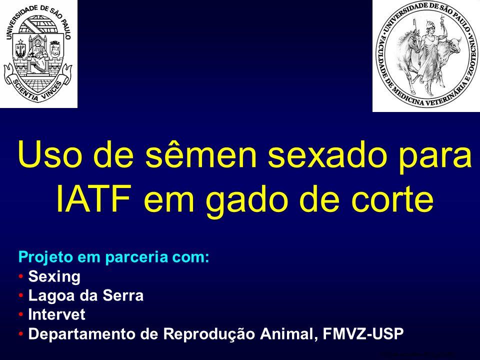 Uso de sêmen sexado para IATF em gado de corte