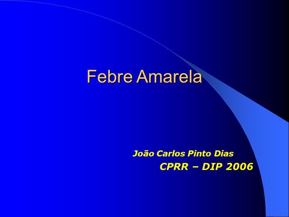 Febre Amarela João Carlos Pinto Dias CPRR – DIP 2006