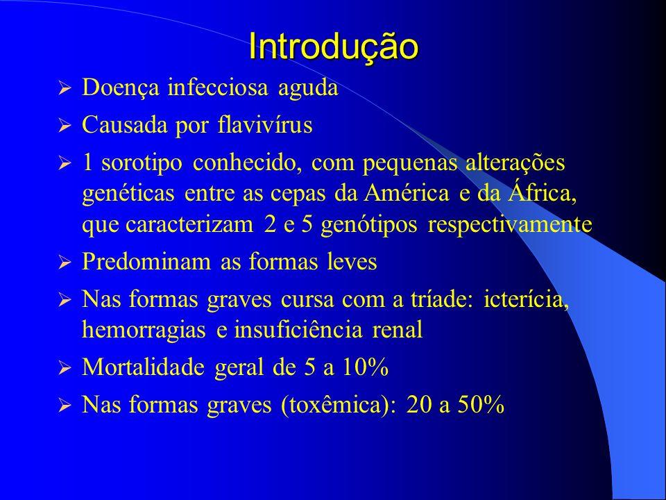 Introdução Doença infecciosa aguda Causada por flavivírus