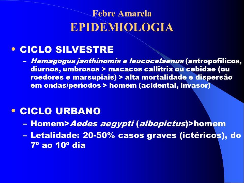 Febre Amarela EPIDEMIOLOGIA
