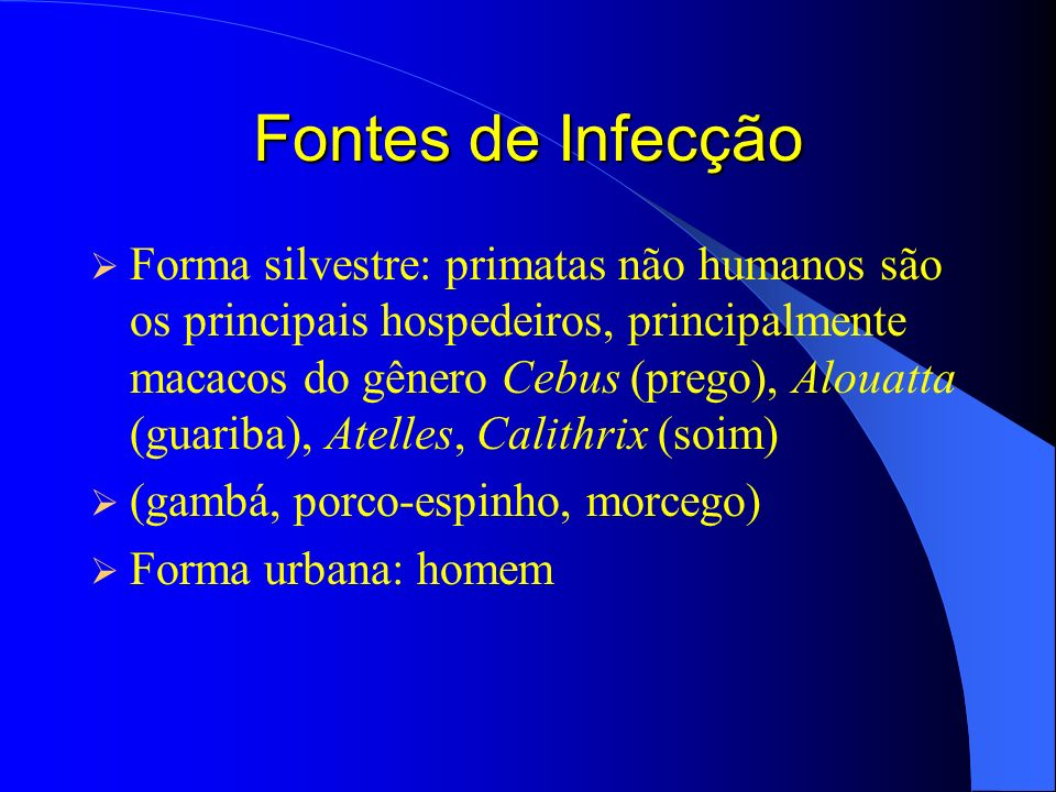 Fontes de Infecção