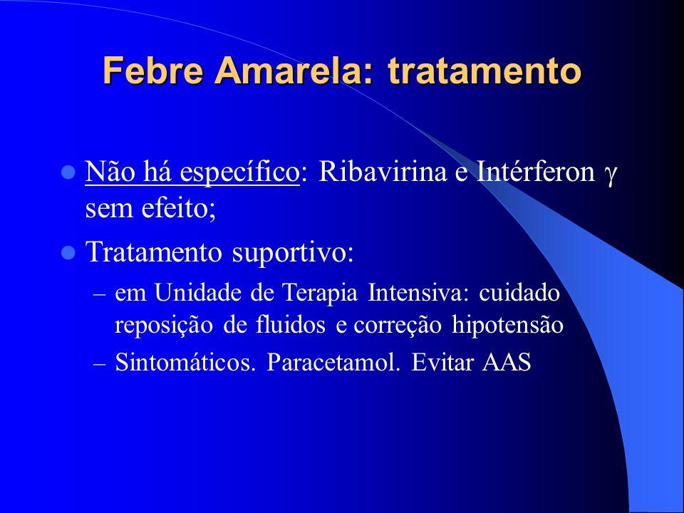 Febre Amarela: tratamento