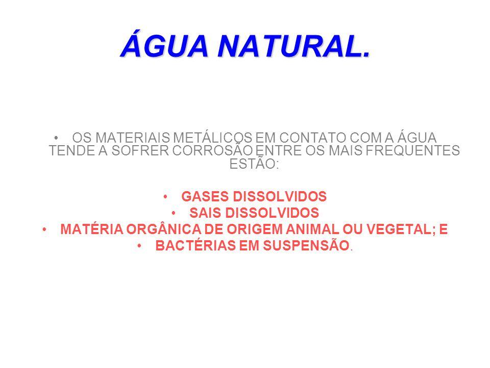 MATÉRIA ORGÂNICA DE ORIGEM ANIMAL OU VEGETAL; E