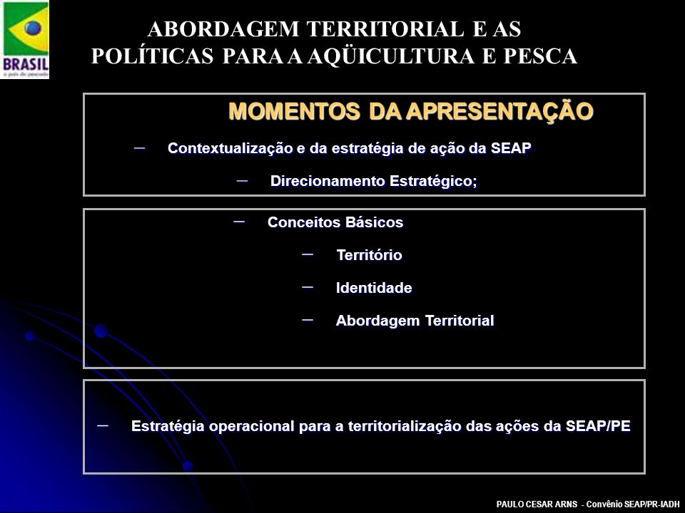 ABORDAGEM TERRITORIAL E AS POLÍTICAS PARA A AQÜICULTURA E PESCA
