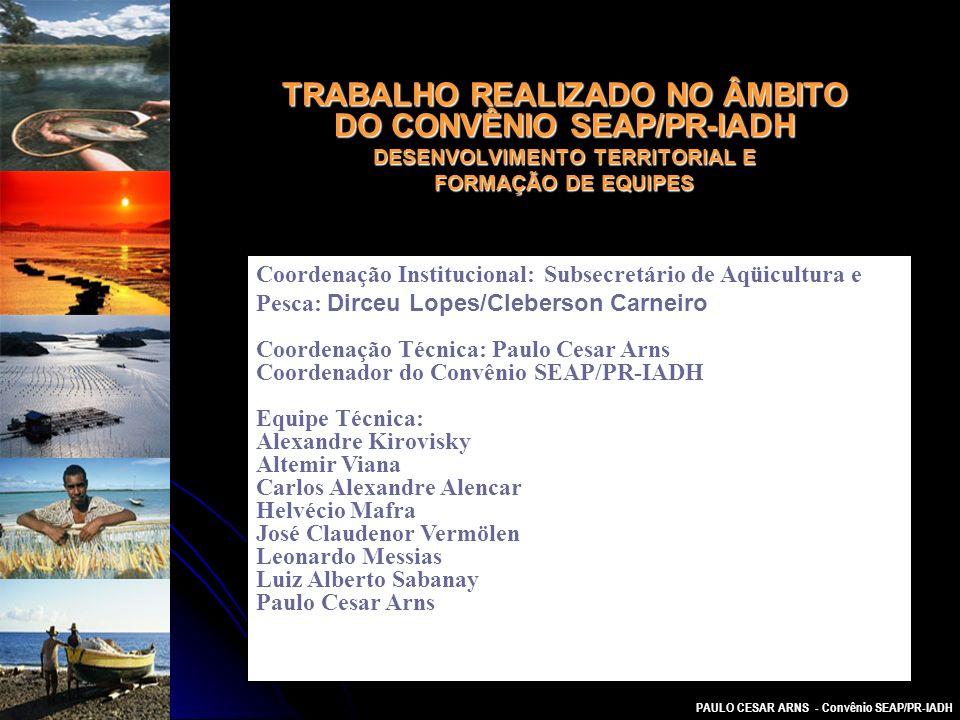 TRABALHO REALIZADO NO ÂMBITO DO CONVÊNIO SEAP/PR-IADH