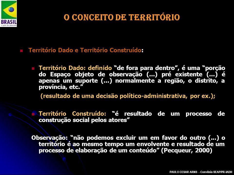 O CONCEITO DE TERRITÓRIO