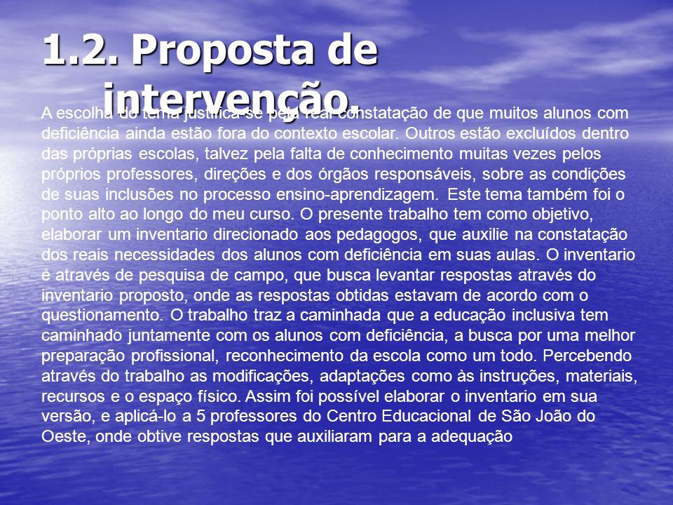 1.2. Proposta de intervenção.