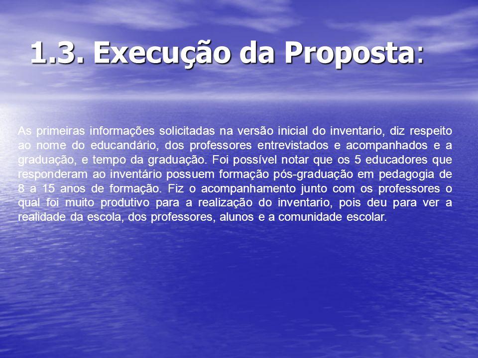 1.3. Execução da Proposta: