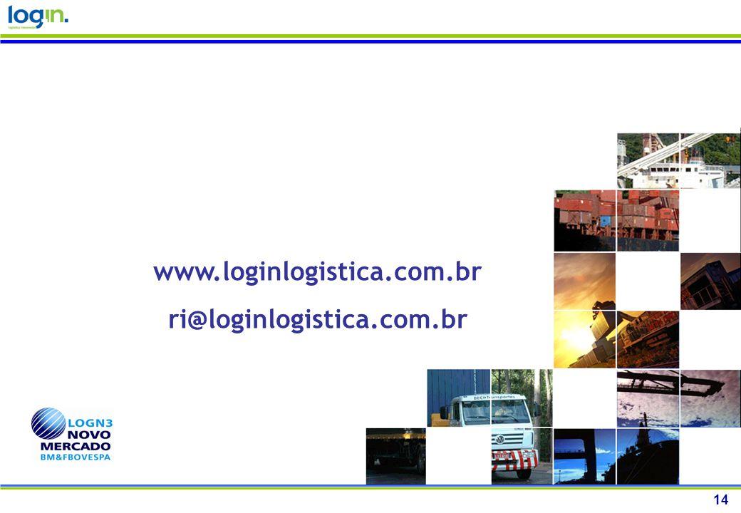 www.loginlogistica.com.br ri@loginlogistica.com.br