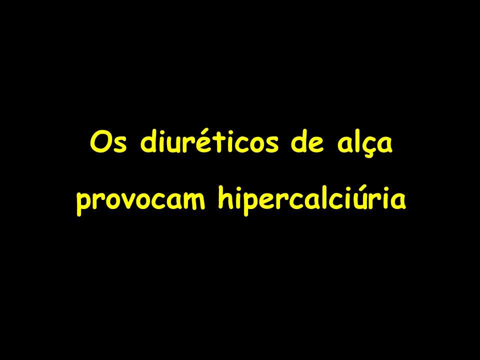 Os diuréticos de alça provocam hipercalciúria