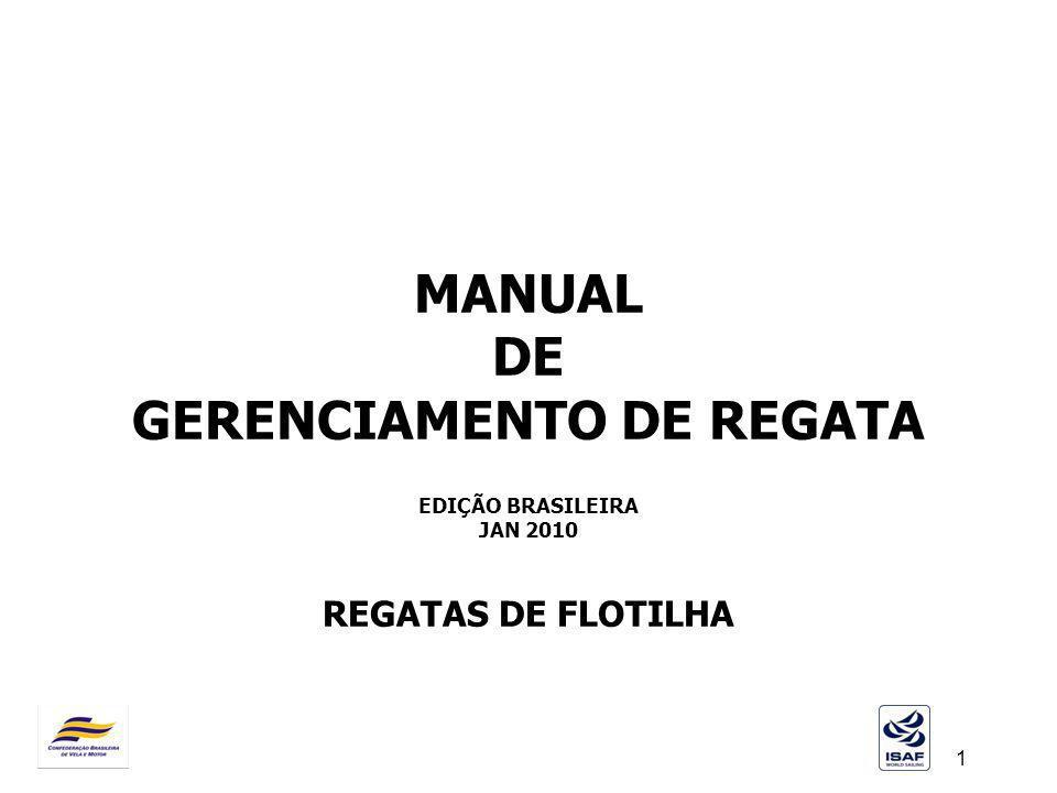 MANUAL DE GERENCIAMENTO DE REGATA EDIÇÃO BRASILEIRA JAN 2010 REGATAS DE FLOTILHA