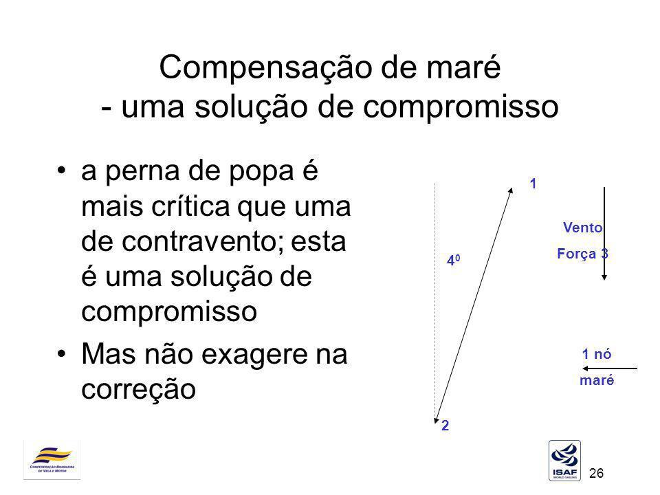 Compensação de maré - uma solução de compromisso
