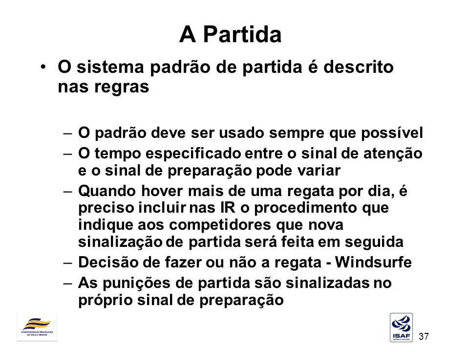 A Partida O sistema padrão de partida é descrito nas regras