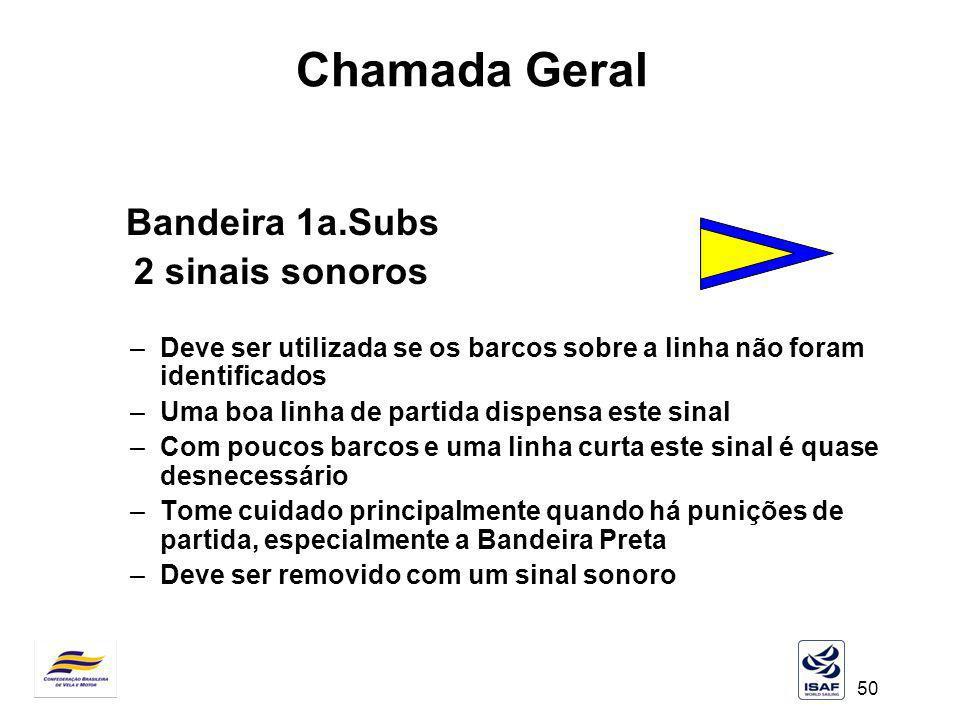 Chamada Geral 2 sinais sonoros Bandeira 1a.Subs