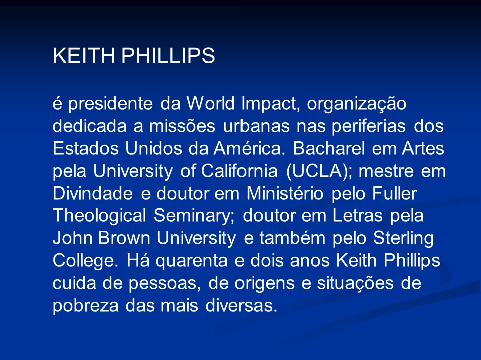 KEITH PHILLIPS