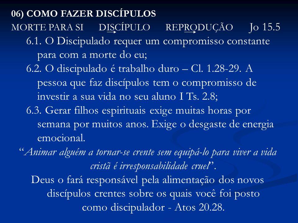 06) COMO FAZER DISCÍPULOS