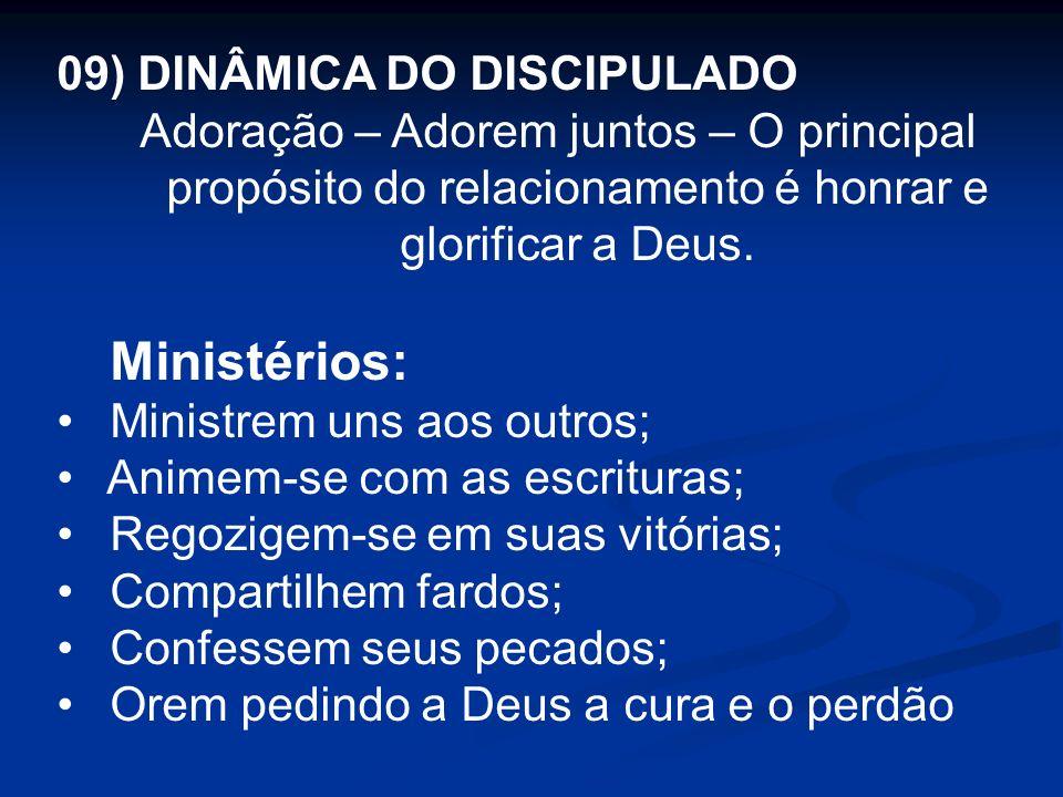 Ministérios: 09) DINÂMICA DO DISCIPULADO