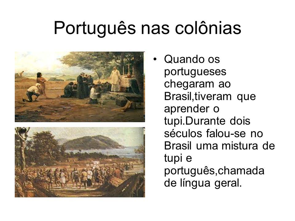 Português nas colônias