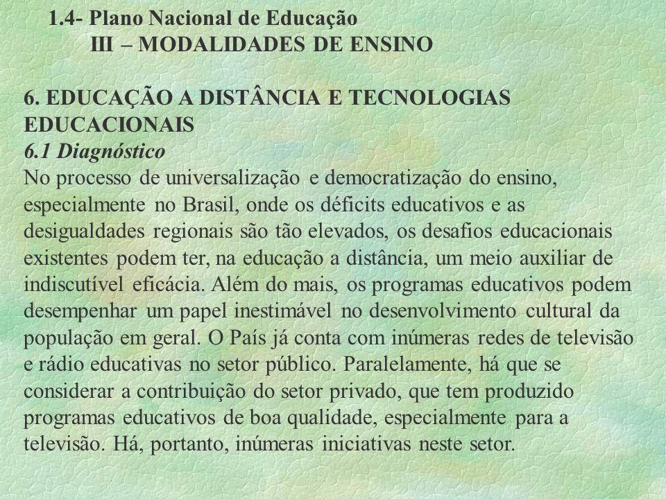1.4- Plano Nacional de Educação