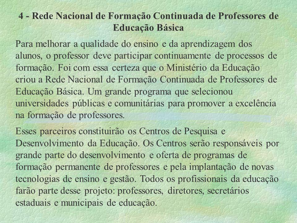 4 - Rede Nacional de Formação Continuada de Professores de Educação Básica